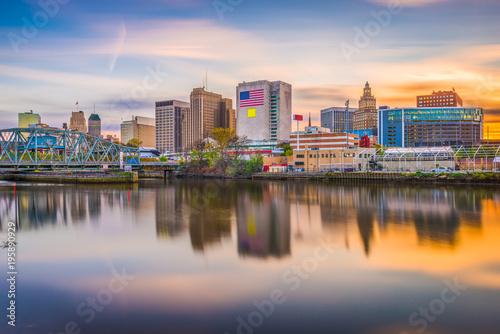 Fototapete Newark, New Jersey, USA Skyline