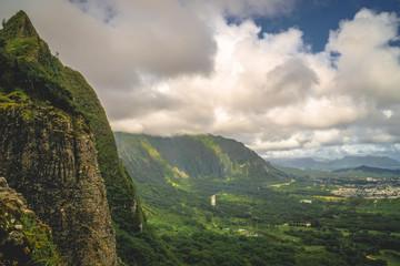 Oahu, Hawaii Mountains - Pali Lookout