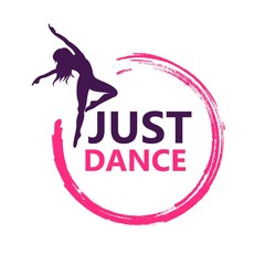 Dance logo vector design symbol