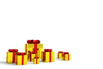 geschenkkartons gold zum weihnachten