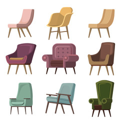 Set of Chair to use in animation, illustration, scene, background, cartoon, etc.
