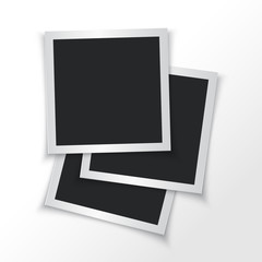 Empty photo frames. Vector illustration