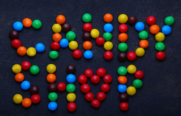 Colours candy text