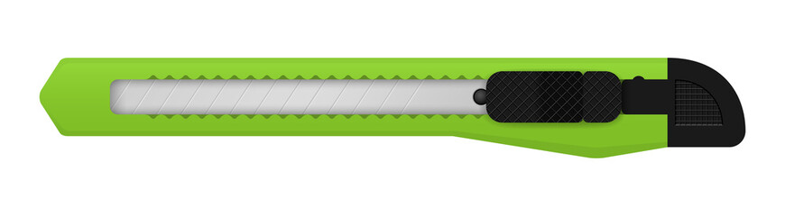 vector green snap off knife