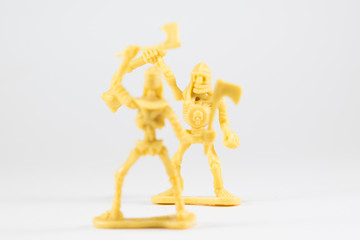 Skeleton Soldier Figurine - One on One Battle