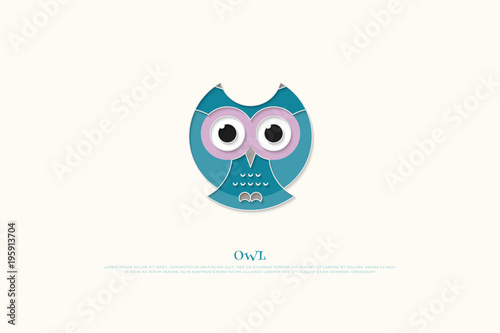 Isolated Cartoon Style Owl Icon Vector Wisdom Concept And