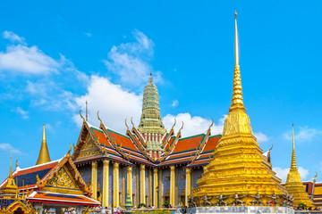 Bangkok Wat Phra Kaew and Grand Palace complex.  Bangkok, Thailandia.
