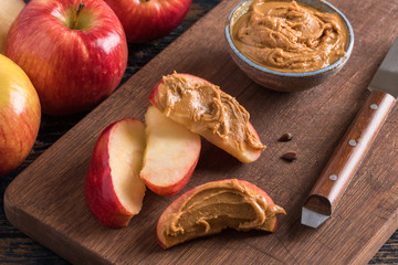Apples and Peanut Butter for snack