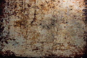 old rusty metal background copy space Wall mural