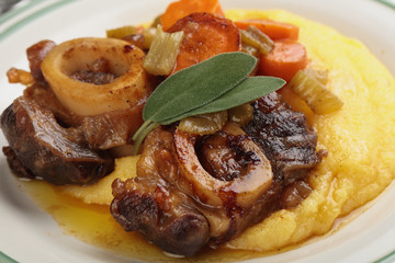 Osso buco with polenta