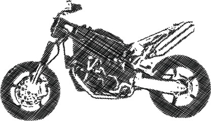 one color abstract motocross illustration