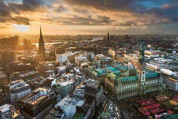 Skyline von Hamburg, Deutschland