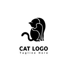 part art cute cat logo