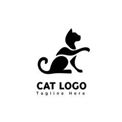 stand cat part art elongate hand logo