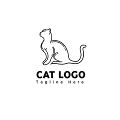 stand line art cat logo