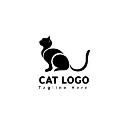 silhouette stand part art cat logo