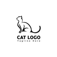 silhouette stand brush art cat logo