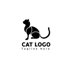 silhouette stand part art cat logo