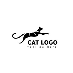 silhouette jump cat part logo