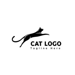 silhouette jump cat logo
