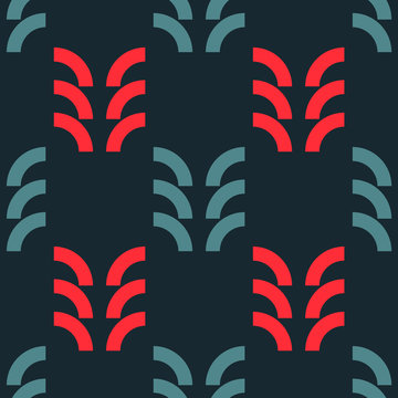 Harvest ripe seamless pattern. Strict line geometric pattern for your design.
