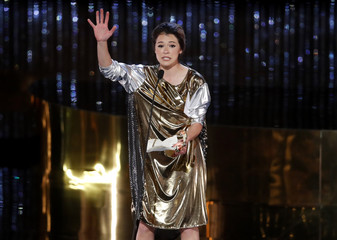 Tatiana Maslany wins the award for lead actress in a drama series during the Canadian Screen Awards in Toronto