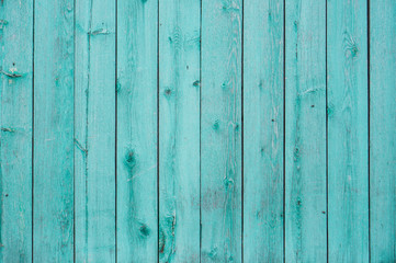Light blue, green wood plank surface texture, wooden board background with copy space.