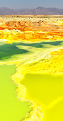 africa  the volcanic depression  of dallol