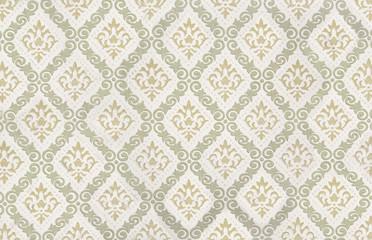 nostalgisches vintage tapetenmuster mit lilien ornamenten - Tapeten Muster