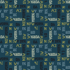 New York seamless pattern. Creative design for various backgrounds.