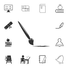 paint brush icon. Detailed set of education element icons. Premium quality graphic design. One of the collection icons for websites, web design, mobile app