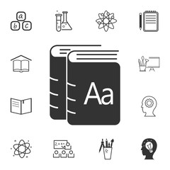 Books icon. Detailed set of education element icons. Premium quality graphic design. One of the collection icons for websites, web design, mobile app
