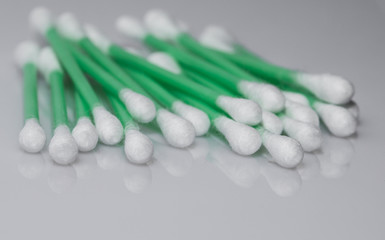 cotton swab for first aid, cosmetic applications and hygiene
