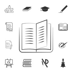Book line icon. Detailed set of education element icons. Premium quality graphic design. One of the collection icons for websites, web design, mobile app