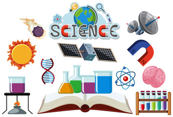 Icon design for science on white background