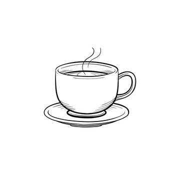 Coffee cup hand drawn outline doodle icon