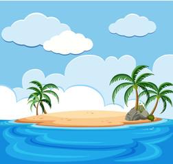 Background scene of island in the ocean