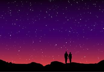 Couple silhouette twilight 8