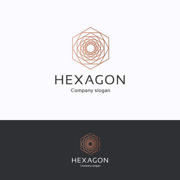 Hexagon rose logo