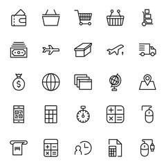 Online supermarket flat icon