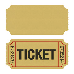 Admission Ticket Isolated