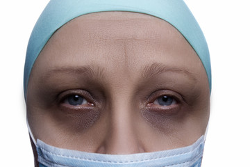 Woman after chemotherapy