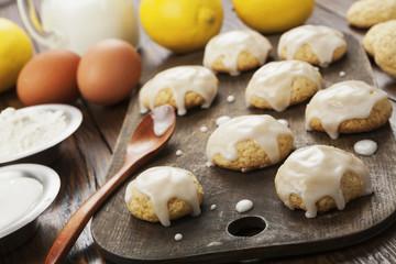Printed roller blinds Cookies Lemon glaze cookies