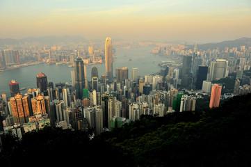 Hong Kong Cityscape at Sunset