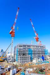 建設中のマンション Apartment house construction
