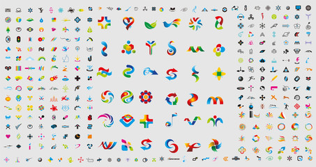 Set of 311 logos - Vector