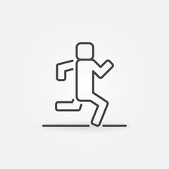Running outline vector icon