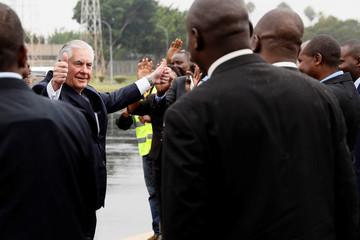 Tillerson departs Nairobi