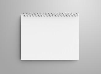 Blank notepad mockup
