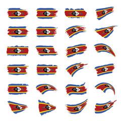 Swaziland flag, vector illustration
